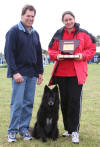 Elsina & Bella being presented with their trophy by Judge Graham Keating