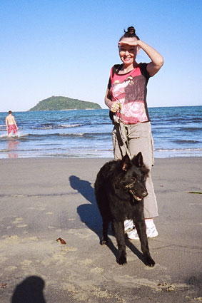 Me on the beach with my Mum ^..^