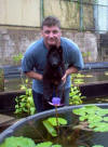 Here I am with my human Dad Dennis and water everywhere - Am I gonna love this! ;)